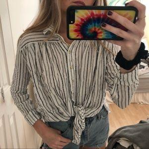 Women's button up cotton long sleeve shirt